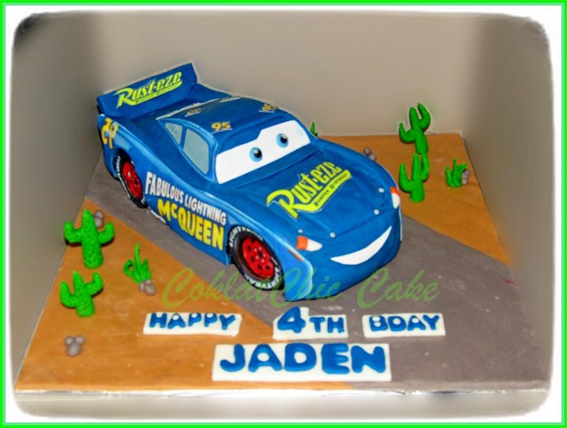 cake lightning mcqueen disney cars 3 - jaden - coklatchic