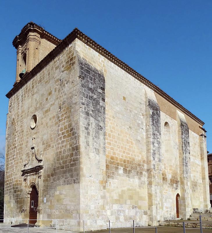 Iglesia Santa Maria Jus del Castillo exterior Estella Navarra 02