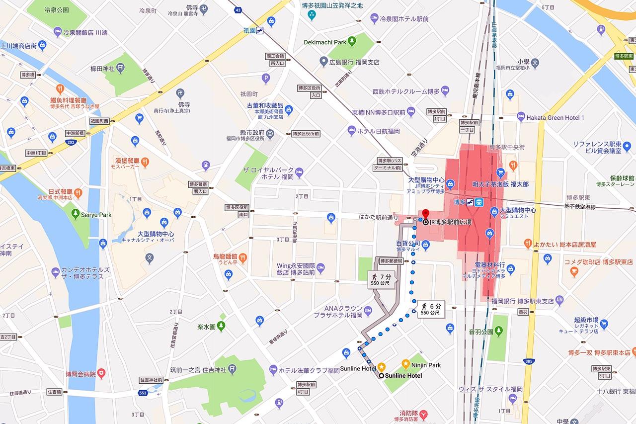 Hotel Sunline Fukuoka Hakata-Ekimae 1