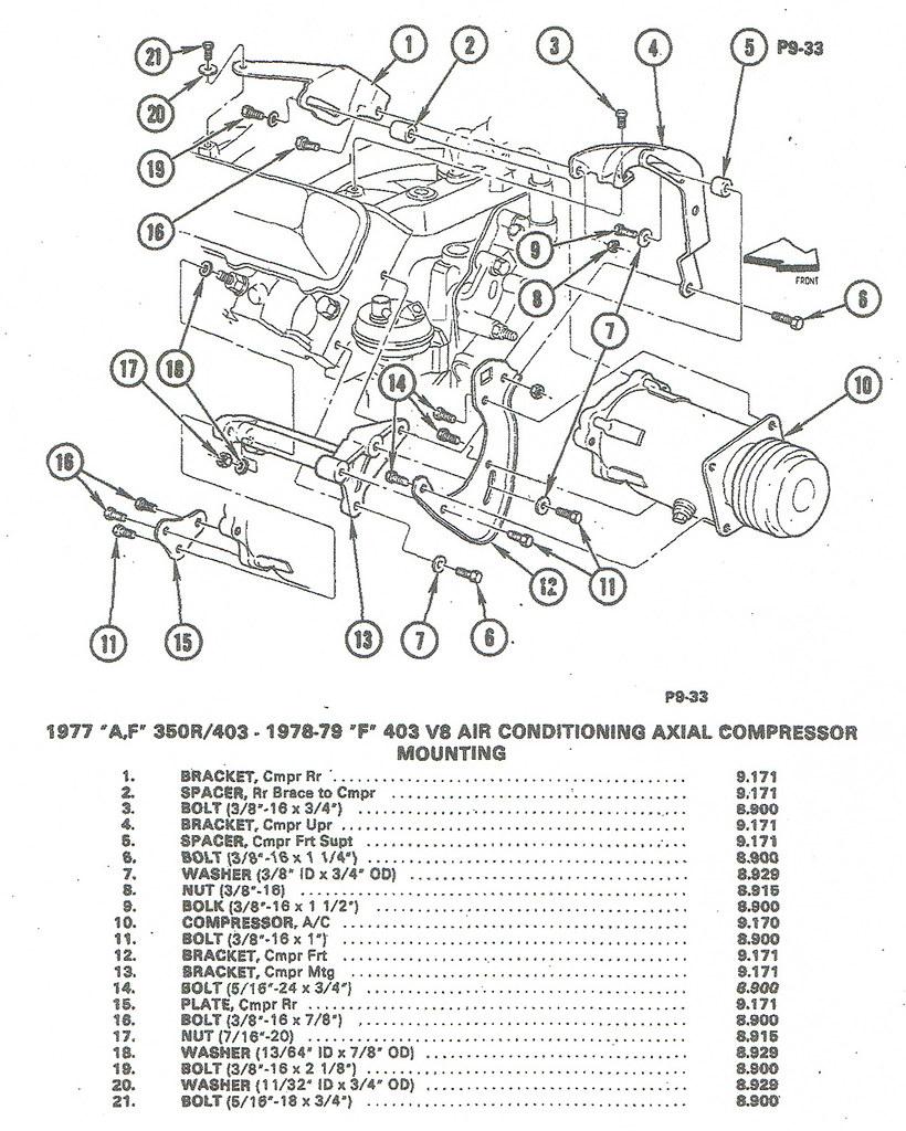 medium resolution of installing a c compressor brackets to olds 350 403