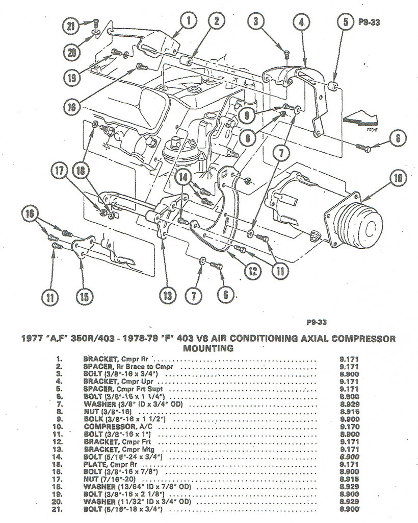 hight resolution of installing a c compressor brackets to olds 350 403