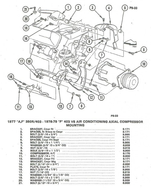 small resolution of installing a c compressor brackets to olds 350 403