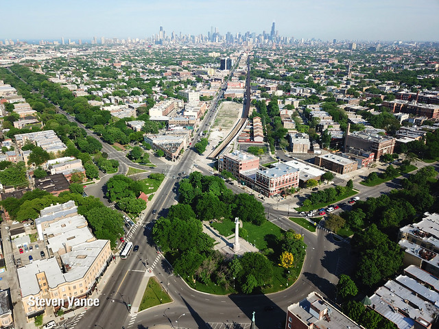 Logan Square - the square from above