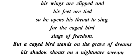 ICSE Solutions for Class 9,10 English - I Know Why The Caged Bird Sings-(note)-3