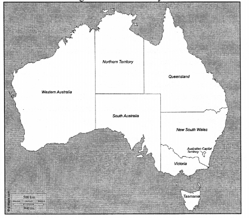 Australia Map Physical Features.Icse Solutions For Class 7 Geography Voyage Australia Location