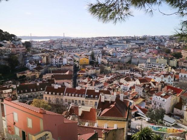 Mirador da Gracia en Lisboa