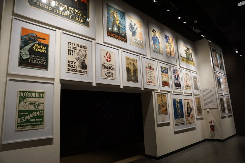 War-Time Posters at the Inside the National WWI Museum and Memorial in Kansas City, Mo., April 20, 2018.