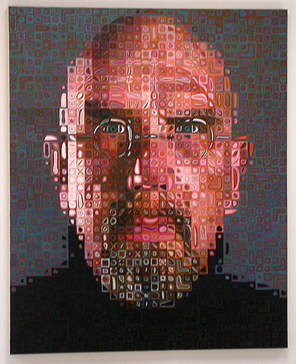 Fluidr -portrait Chuck Close John Weiss