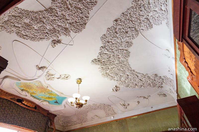 Потолок в Библиотеке, особняк Рябушинского, Москва