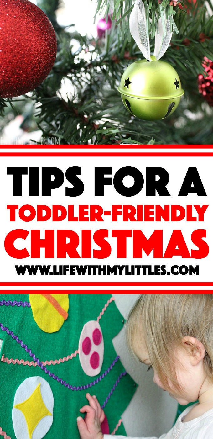 Super helpful tips for a toddler-friendly Christmas. Follow these ten tips great tips for decorating for Christmas when you have a toddler or baby at home, and your decorations will actually last until Christmas!