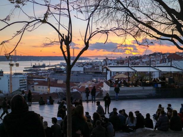 Mirador Santa Catalina en Lisboa