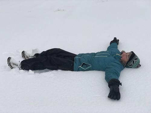 Owen Sound Linda in the snow angel