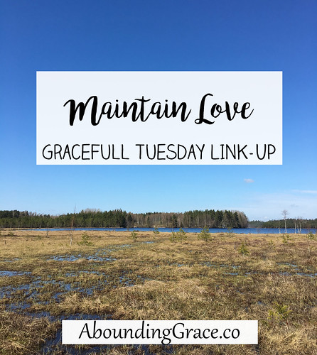 Maintain Love GraceFull Tuesday Link-Up