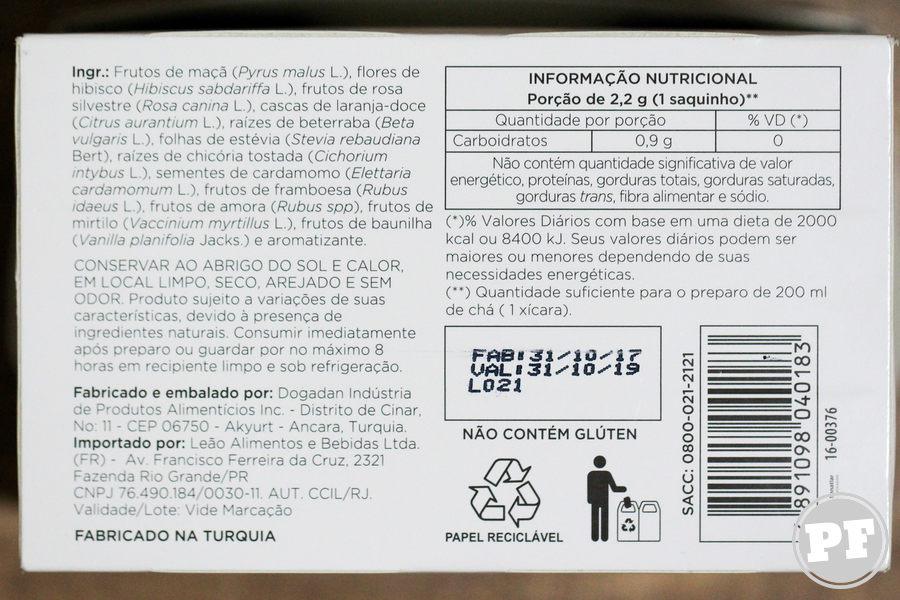 Chá Leão Senses Amora, Mirtilo e Baunilha por PratoFundo.com