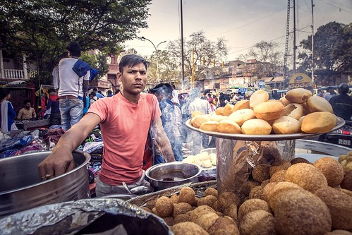 Street vendor. From Explore the Golden Triangle of India
