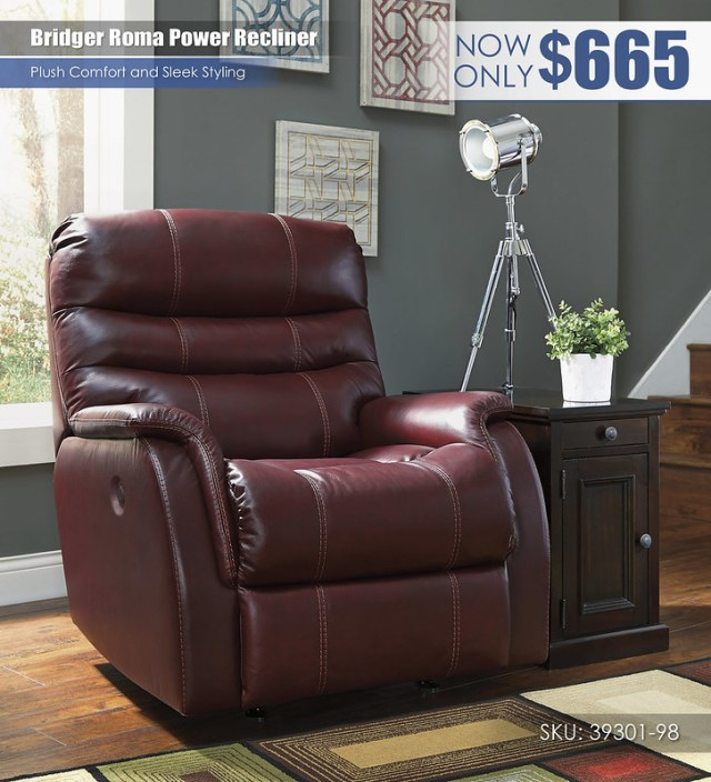 Bridger Roma Power Recliner_39301-98-T127-551