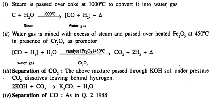 New Simplified Chemistry Class 9 ICSE Solutions - Study of The First Element - Hydrogen 8.1
