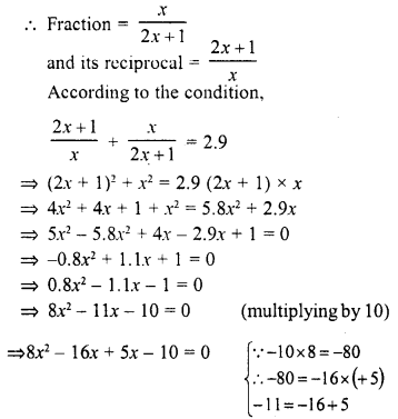 Selina Concise Mathematics Class 10 ICSE Solutions Chapter 6 Solving Problems Ex 6A 10