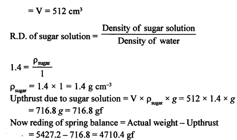 A New Approach to ICSE Physics Part 1 Class 9 Solutions Archimedes' Principle..0012