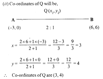 Selina Concise Mathematics Class 10 ICSE Solutions Chapter 13 Section and Mid-Point Formula Ex 13A 14.1
