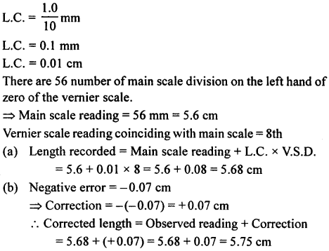 A New Approach to ICSE Physics Part 1 Class 9 Solutions Measurements and Experimentation 24.1