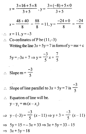 Selina Concise Mathematics Class 10 ICSE Solutions Chapter 14 Equation of a Line Ex 14E 1.1