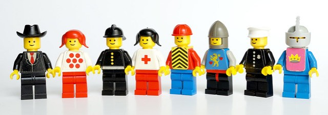 LEGO minifigs 1978 Original stickers