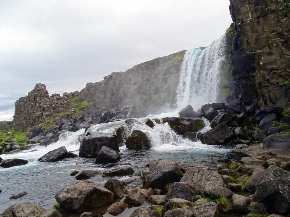 Cascada Oxarárfoss Parque Nacional Thingvellir Islandia 05