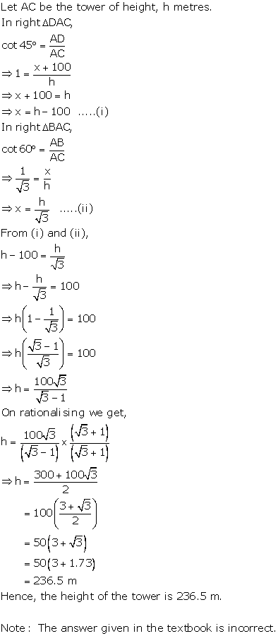 RS Aggarwal Solutions Class 10 Chapter 14 Height and Distance Ex 14a 61
