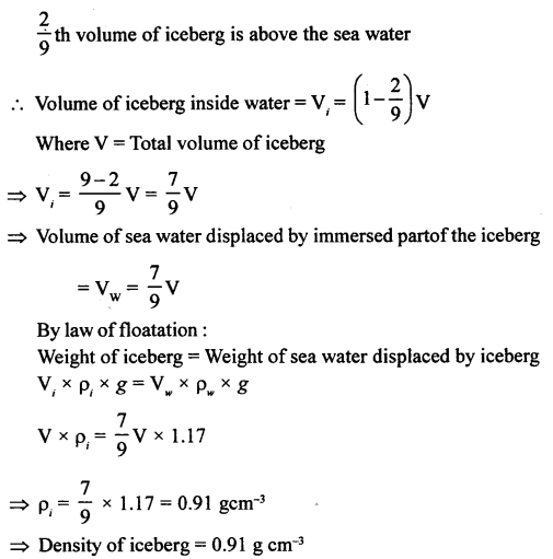 A New Approach to ICSE Physics Part 1 Class 9 Solutions Archimedes' Principle..0021