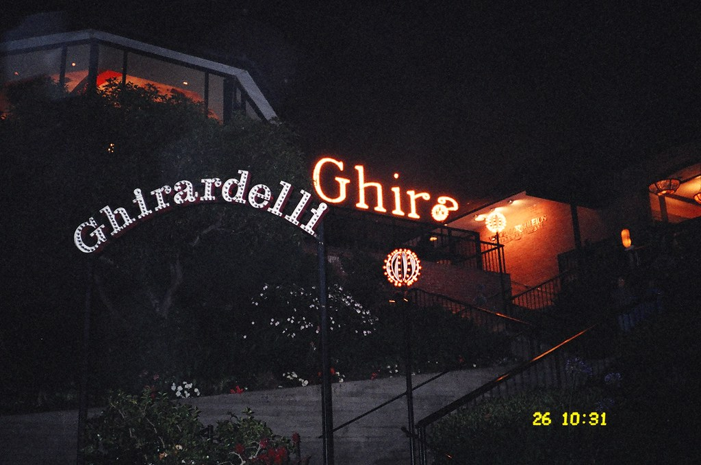 Ghirardelli Square at night