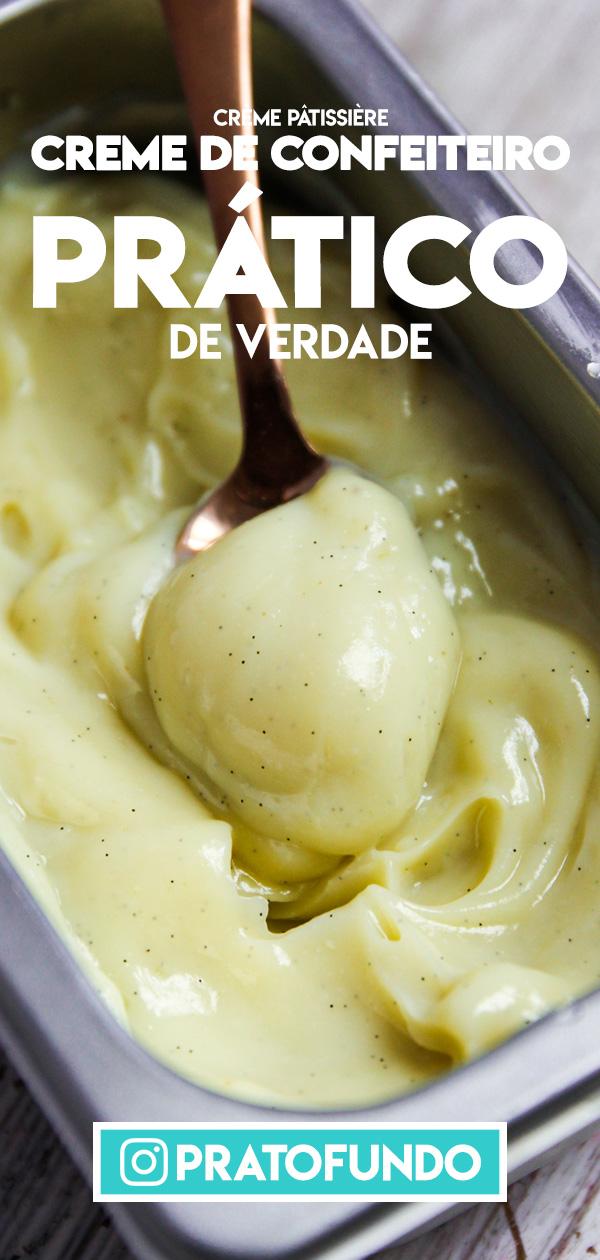 Como se Faz: Creme de Confeiteiro Prático (Crème Pâtissière) por PratoFundo.coma