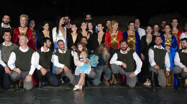 Χοροθεατρική παράσταση «Ερωτόκριτος» στο Κάστρο Λευκάδας