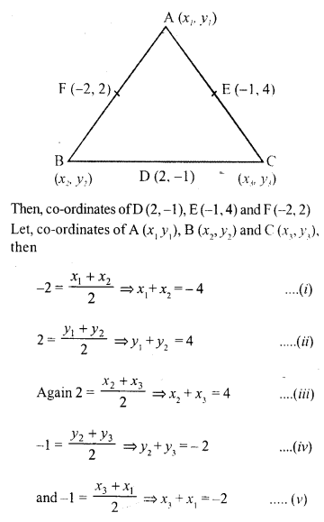 Selina Concise Mathematics Class 10 ICSE Solutions Chapter 13 Section and Mid-Point Formula Ex 13B 13