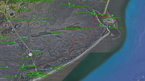 Morris Island Paddle Route