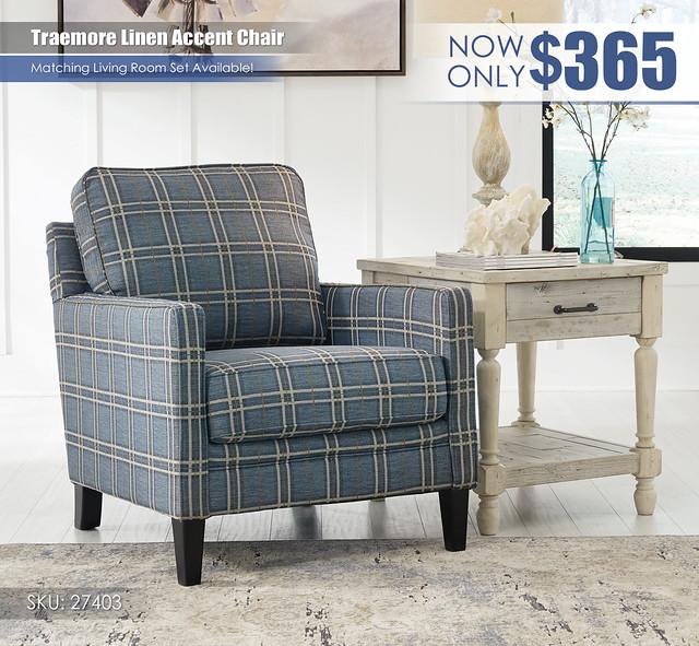 Traemore Linen Accent Chair_27403-21