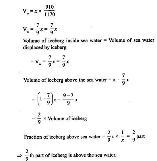 A New Approach to ICSE Physics Part 1 Class 9 Solutions Archimedes' Principle..0026