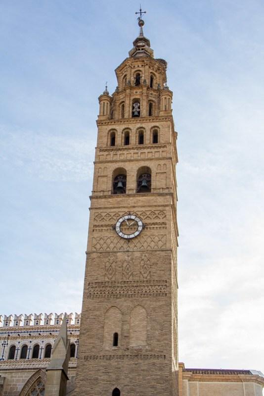 Torre campanario exterior Catedral de Nuestra Señora de la Huerta de Tarazona Zaragoza 00