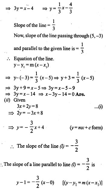 Selina Concise Mathematics Class 10 ICSE Solutions Chapter 14 Equation of a Line Ex 14D 13