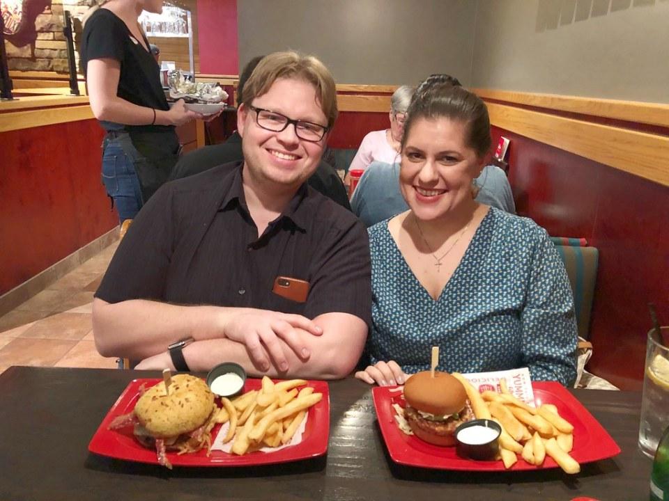 Joshua and I at Red Robin