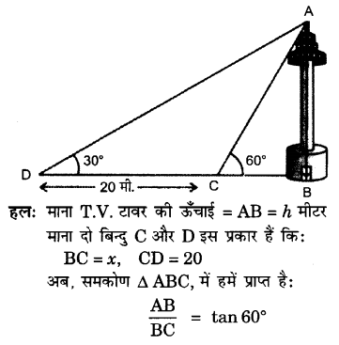 UP Board Solutions for Class 10 Maths Chapter 9 Some Applications of Trigonometry 11