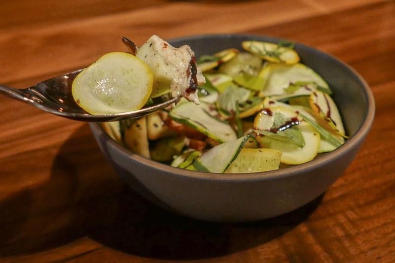 Grilled Summer Squash Salad, Goats Ricotta Grilled Dates $14
