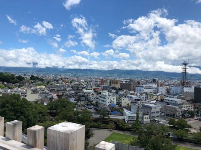 Maizuru Castle in Kofu City