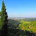 View from San Vigilio hill near Bergamo ...