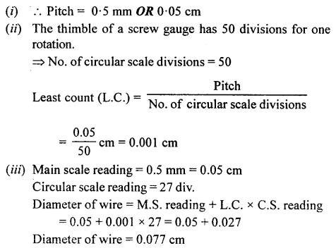A New Approach to ICSE Physics Part 1 Class 9 Solutions Measurements and Experimentation 34