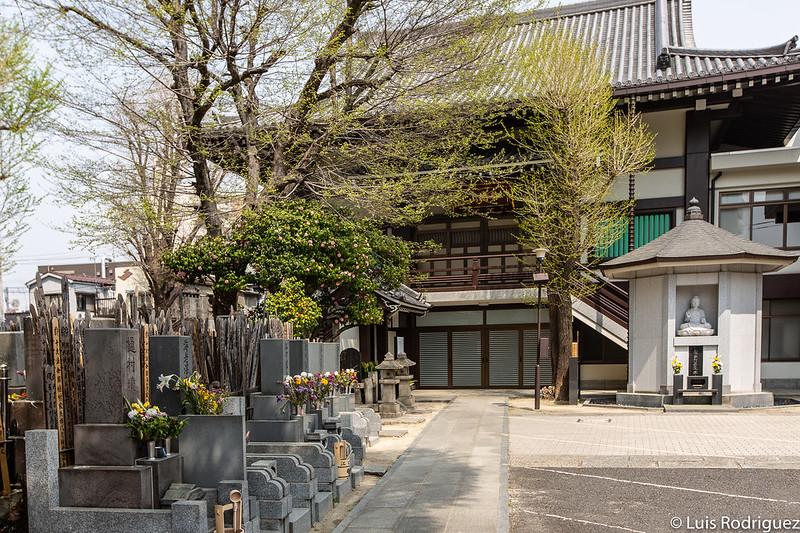Patio central del templo Jokanji, cerca de Yoshiwara