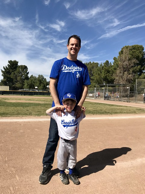 MIKE IN A DODGERS SHIRT
