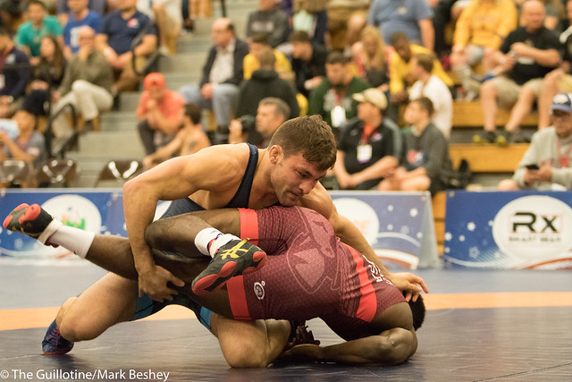 74KG  Evan Wick (Titan Mercury Wrestling Club) VPO1 Quinton Godley (Titan Mercury Wrestling Club), 5-1.  - 180519bmk0043