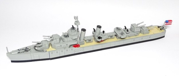 Porter-class US Navy Destroyer 1:200 scale LEGO model