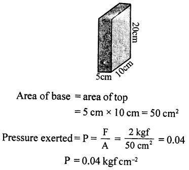 Selina Concise Physics Class 8 ICSE Solutions - Force and Pressure 23.1